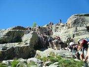 Montée au lac de Melo, passage des échelles