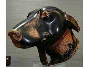 Rhyton en forme de tête de chien