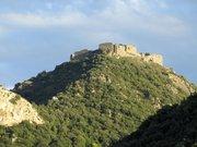 Le château de Termes, vu depuis le nord-ouest