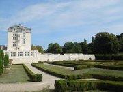 Château de Montchaude, château and garden, from west