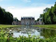 Château de Bagatelle, perspective arrière et miroir d'eau