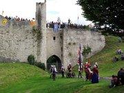 Picquigny fête médiévale 2008 - bouches à feu en place
