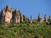 The famous rock formations of Chaos-de-Montpellier-le-Vieux, as seen from the Dourbie valley deep down - panoramio