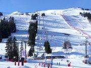 Pistes de ski côté Loze vues de Courchevel 1850 (décembre 2019)