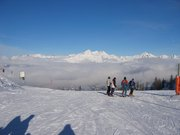 High above Vallandry - Les Arcs on a beautiful day