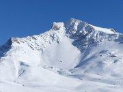 Cheval Noir enneigé vu de la route du Col de la Madeleine
